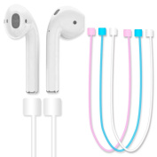 AirPods Strap,(Pink)Fluorescent Light Glow in The Dark iPhone 7 / 7 Plus Air Pods Sports Silicone Strap Wire Rope for Apple Airpods