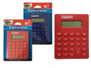 CALCULATOR 4.88X3.190cm X 10cm RED BLUE CLR , Case of 96