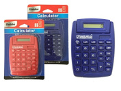 CALCULATOR 13cm x 9.3cm X4.190cm TILT BLUE RED CLR , Case of 96