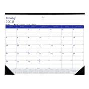 Blueline 2018 Dura Globe Monthly Desk Pad Calendar, 60cm x 43cm