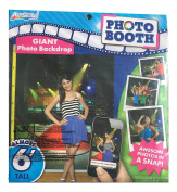 Red Carpet Photo Booth Kit - Backdrop with Props