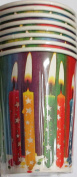 Happy Birthday Paper Cups (8 Cups) - Candles - 270ml cups