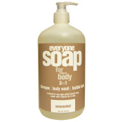 Everyone, Soap For Everybody 3 in 1, Unscented, 32 fl oz (946 ml) - 3PC