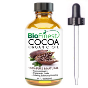BioFinest Cocoa Organic Oil - 100% Pure Cold-Pressed - Best Moisturiser For Hair Face Skin Acne Sunburn Cuts Wrinkle Scars Eczema - Essential Antioxidant, Vitamin A - . Dropper