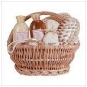 Luxury Bath Basket For Women, Spa Gift Set, Ginger Scent