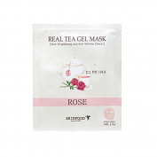 [Skin Food] Real Tea Gel Mask (Rose) 30g + SoltreeBundle Oil blotting Paper 50pcs