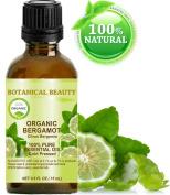 ORGANIC BERGAMOT CITRUS BERGAMIA ESSENTIAL OIL Italian. 100% Pure Therapeutic Grade, Premium Quality, Undiluted. 0.5 Fl.oz.- 15 ml.