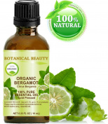 ORGANIC BERGAMOT CITRUS BERGAMIA ESSENTIAL OIL Italian. 100% Pure Therapeutic Grade, Premium Quality, Undiluted. 0.33 Fl.oz.- 10 ml.