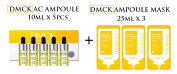 DMCK Clean AC Ampoule 10ml x 5pcs + DMCK Clean AC Witch Hazel Ampoule Mask 25ml x 3 sheet