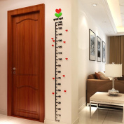 Fabal Baby Kid Room Deco Height Ruler Measure Chart DIY 3D Acrylic Crystal Wall Stickers