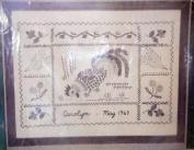 "Bucilla ""Signature Picture"" Needlework Linen Sampler Kit 28cm x 36cm Stitchery #3120 Vintage"