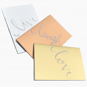 Set of 3 Metallic Notebooks A5 / Live Laugh Love / Lunarbaystore.com