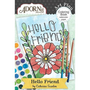 Hello Friend Mini Colouring Book