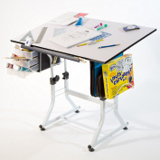 Universal Ashley White Creative Drafting Table - 2 year warranty