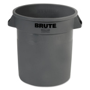 Container Brute Grey 37.9l, Each, Rubbermaid Commercial Waste Receptacle