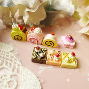 21PCS Play Food Pretend Food Strawberry Cake Sweet Dessert Cream Butter Fruit Bread for Kids Babie Doll American Girl Doll Toy