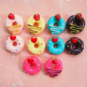 10PCS Play Food Pretend Food Strawberry Donuts Sweet Dessert Cream Butter Honey Fruit for Kids Babie Doll American Girl Doll Toy