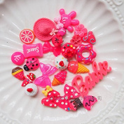 30PCS Rose Red Play Pretend Food Dessert Sweet Candy Cake ice Cream Fruit Flower for Kids Babie Doll American Girl Doll Toy