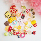 50PCS Play Pretend Food Dessert Sweet Candy Cookies Fries Cake Donuts Fruit for Kids Babie Doll American Girl Doll Toy