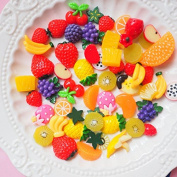 30PCS Play Pretend Food Sweet Fruit fruits fruit cup Sugar Candy Sweetmeat for Kids Babie Doll American Girl Doll Toy