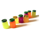 12PCS Play Food Pretend Food Sweet Honey Fruit Bottle Sauce Sugar Cans for Kids Babie Doll American Girl Doll Toy