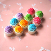 15PCS Play Food Pretend Food Colourful Sweet Cake Dessert ice Cream for Kids Babie Doll American Girl Doll Toy