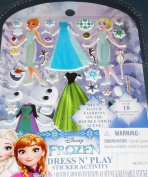 Disney Frozen Dress N' Play Sticker Activity - Includes over 18 Reusable Puffy Stickers