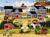 Buffalo Games Wescott's Cherry Harbour by Charles Wysocki Jigsaw Puzzles (1000 Piece), Black