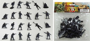 WWII German Infantry and Paratroopers 24 Piece Set Grey Plastic Toy Soldier Figures 1/32 Scale 5.7cm High