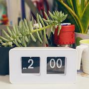 Denshine Retro Auto Flip Clock Classic . Modern Desk Wall Digital Clock Home Decor