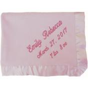 Monogrammed Pink Microfleece Baby Blanket