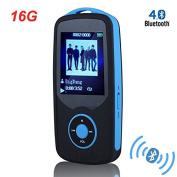 HONGYU MP3 Player, RX06 HiFi 16GB Bluetooth MP3 Music Player with FM Radio and Voice Recorder 50 Hours Lossless Playback & Expandable up to 64GB