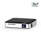 APEMAN Mini Pocket LED DLP Projector HD Built-in Battery Rechargeable HDMI MHL Input Dual Built-in Stereo Speakers LED Life up to 25000 Hours