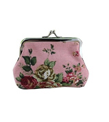 Yeah67886 Creative Roses Print Purse Key Coin Wallet Bag Gift