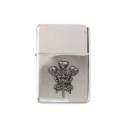 Welsh feathers chrome stormproof petrol lighter