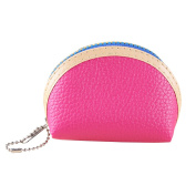 Lisianthus002 Womens PU Leather Change Purse Three-piece Zipper Coin Wallet