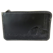"Leather purses 'Mundi'black - 12x7.5 cm (4.72""x2.95"")."