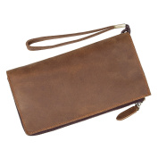 Man Crazy Horse Leather Multi-functional Wallet Restoring Ancient Ways - Brown