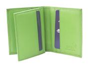 Prime Hide RFID SAFE Soft leather Credit Card Holder Wallet Boxed Green
