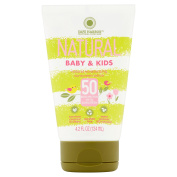 Water Resistant Natural Moisturising Baby & Kids Sunscreen Lotion, Paraben & Chemical UV Filter Free SPF 50, 120ml
