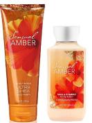 Bath & Body Works Sensual Amber Body Cream & Lotion Set