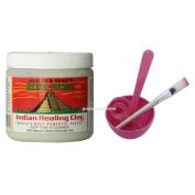 Aztec Secret Indian Healing Clay & 4 in 1 Cosmetic DIY Facial Mask Bowl Brush Stick Measure Spoon