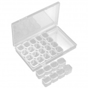 28 Slots Empty Storage Box Nail Art Rhinestone Tools Jewellery Storage Box for Women Makeup Easy Use