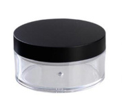 2Pcs 50ml Plastic Empty Powder Puff Case Face Powder Blusher Makeup Cosmetic Jars Containers Travel Kit