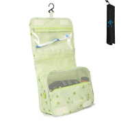 Cocoly Portable Hanging Toiletry Bag Travel Organiser Cosmetic Bag for Women Makeup or Men Shaving Kit with Hanging Hook