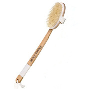 Woods World Bath Brush 46cm long Dry & wet Skin Body Brush Natural Boar Bristle Back Brush Scrubber Body for better Exfoliation & Dry Brushing & Bath & Shower & Massage & Deep-cleaning