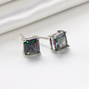 5mm stud earring for lady mix colour fashion jewellery earrings gift