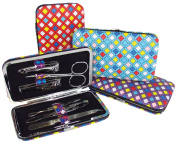 Mosaic Tile Travel Manicure Set with Case, Assorted Colours