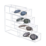 CICI & SISI Manual Stitching Clear Acrylic 4 Drawer Desk Orgniser