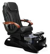 Shiatsulogic Pedicure Spa FLORENCE GALAXY BLACK Black Pedicure Chair w/Discharge Pump